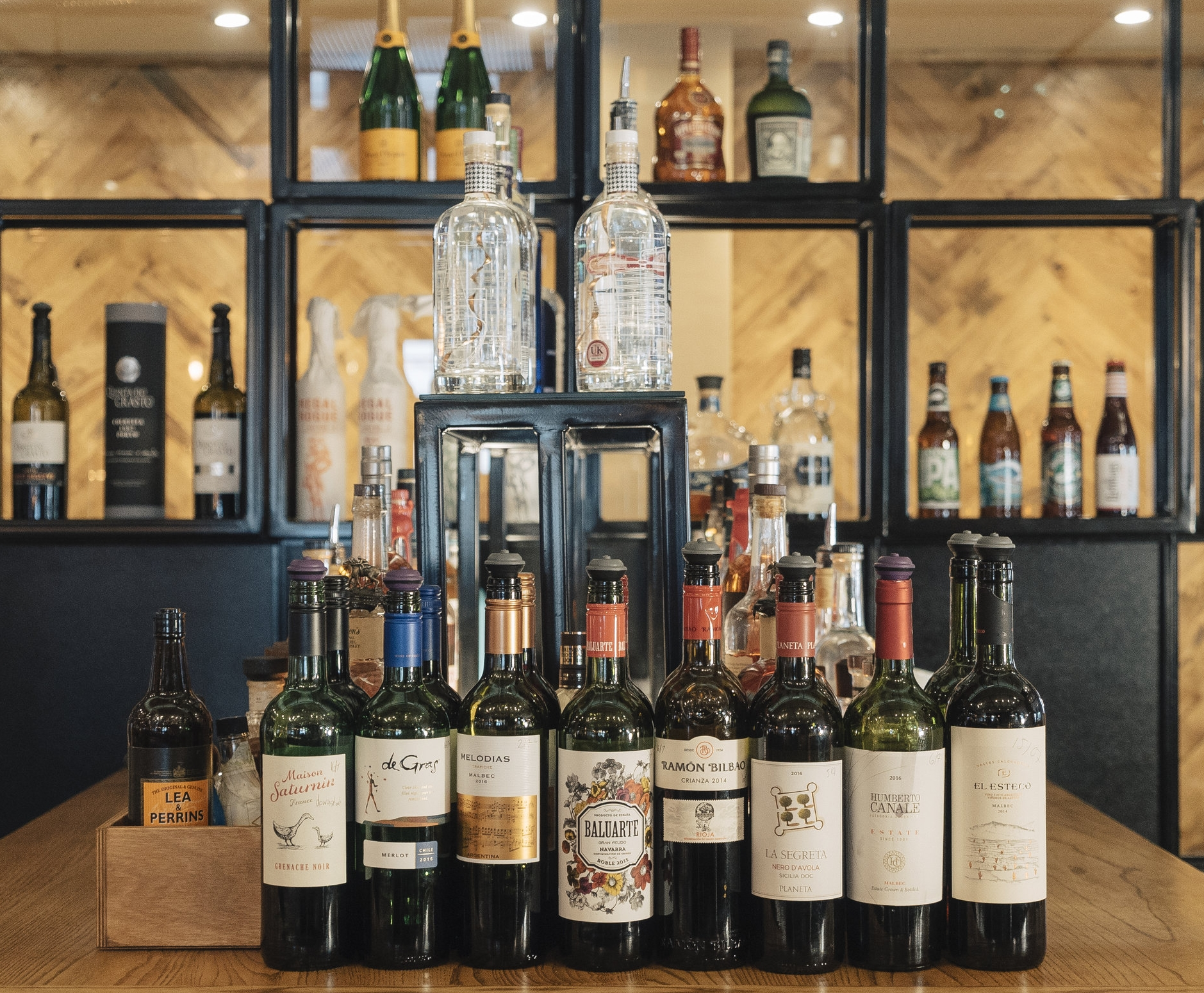 Wine list - Over 35 carefully selected 'Bins' of discovery including three sensational Malbec's from three different Argentinian wine making regions .