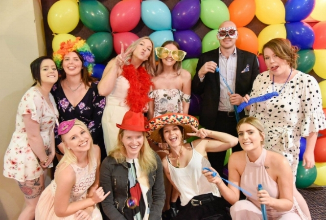 Dr Alexys Ward, Dr Andrew Murphy and the team having fun on the night.