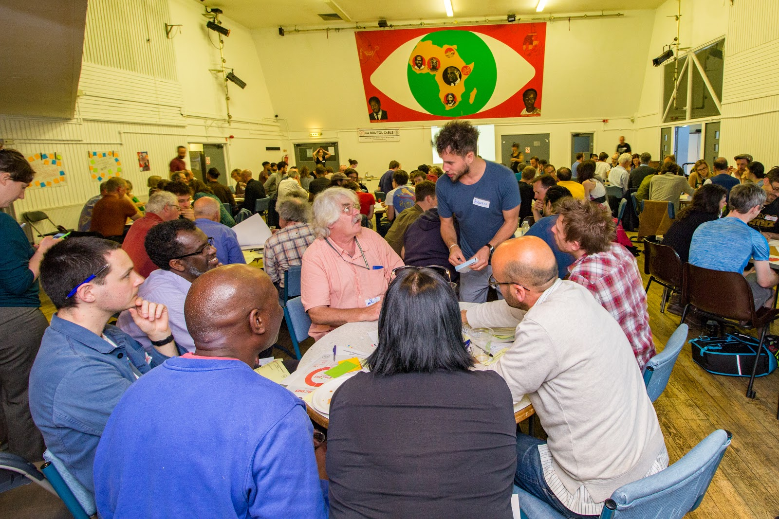 Bristol Cable members at the 2018 AGM (Credit: Alexie Segal / The Bristol Cable)