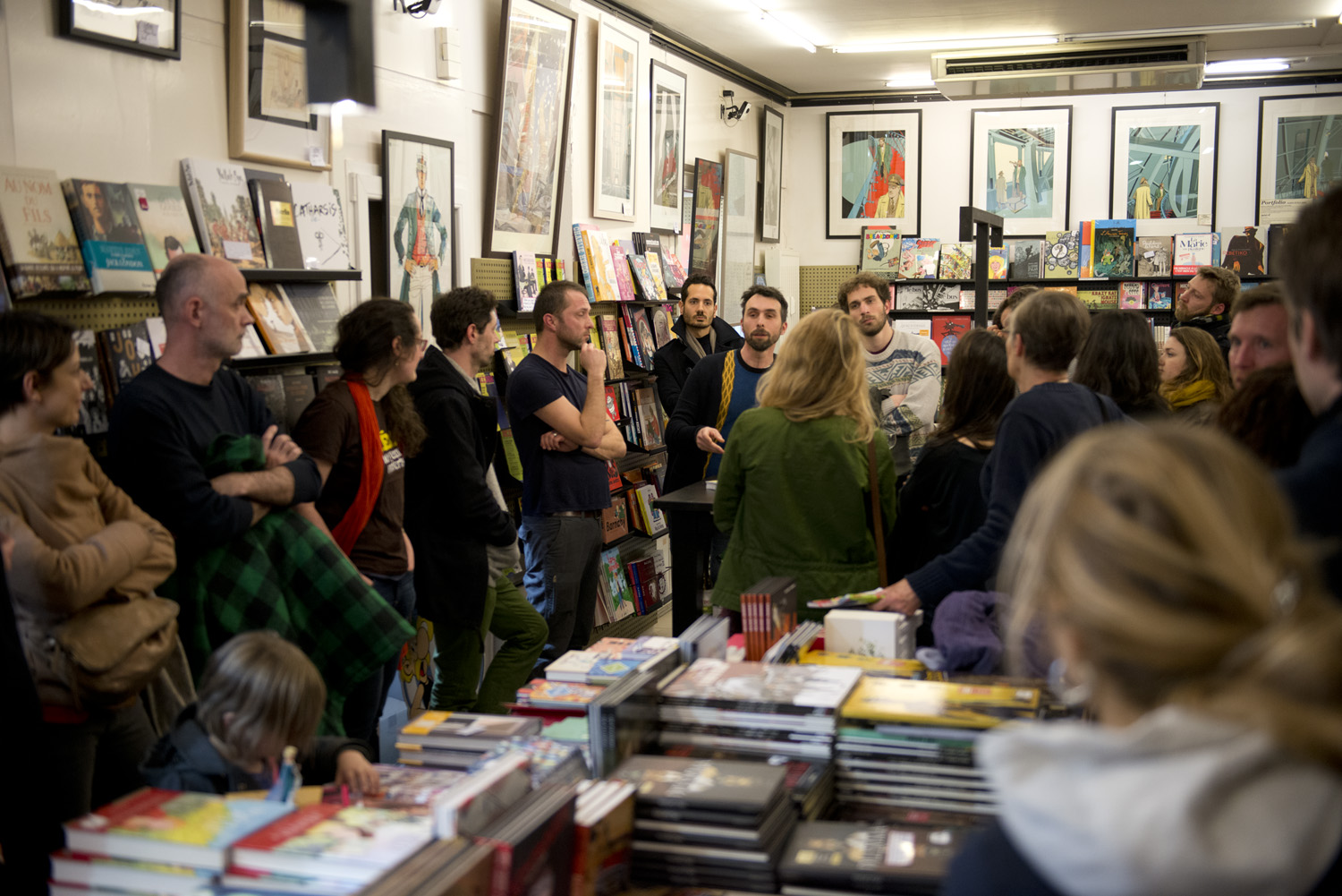 Médor Magazine Edition Launch in a Brussels bookshop in 2016