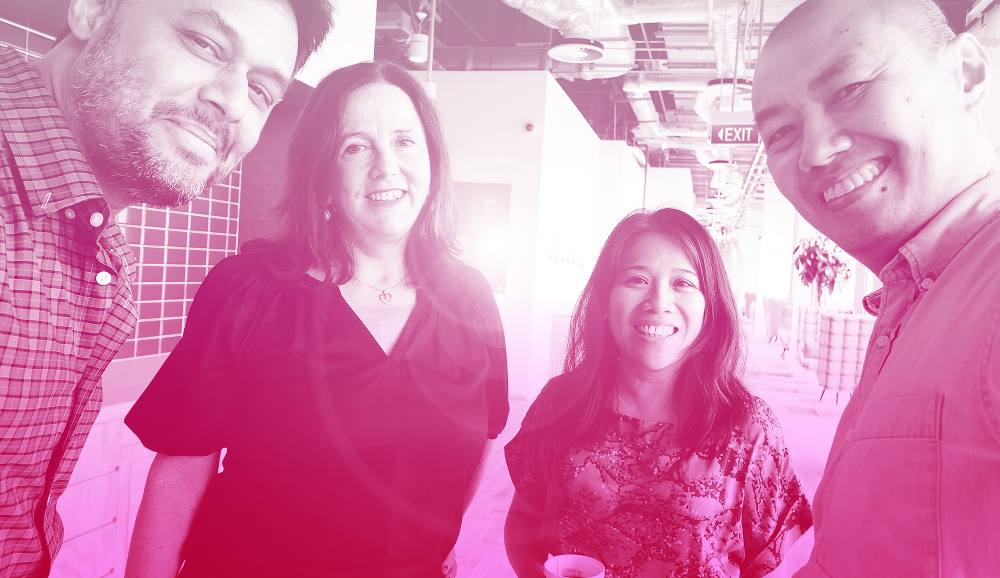 The Splice team    (from left): Rishad Patel, Jacqui Park, Timi Siytangco, and Alan Soon.