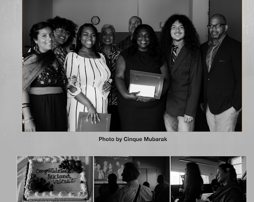 Photos from the 2017-2018 Oakland Voices graduation, as captured by one of the fellows. Screenshot from    Oakland Voices   .