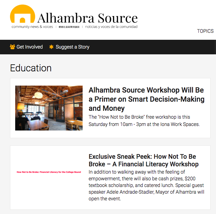 Community news site    Alhambra Source   .