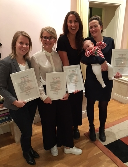 Diplomerade Take the Leadare, s.k musquets,från vänster: Maria Isaksson, Sofie Jonsson, Mirjam Grari, lilla Britta och Emelie Safrani.