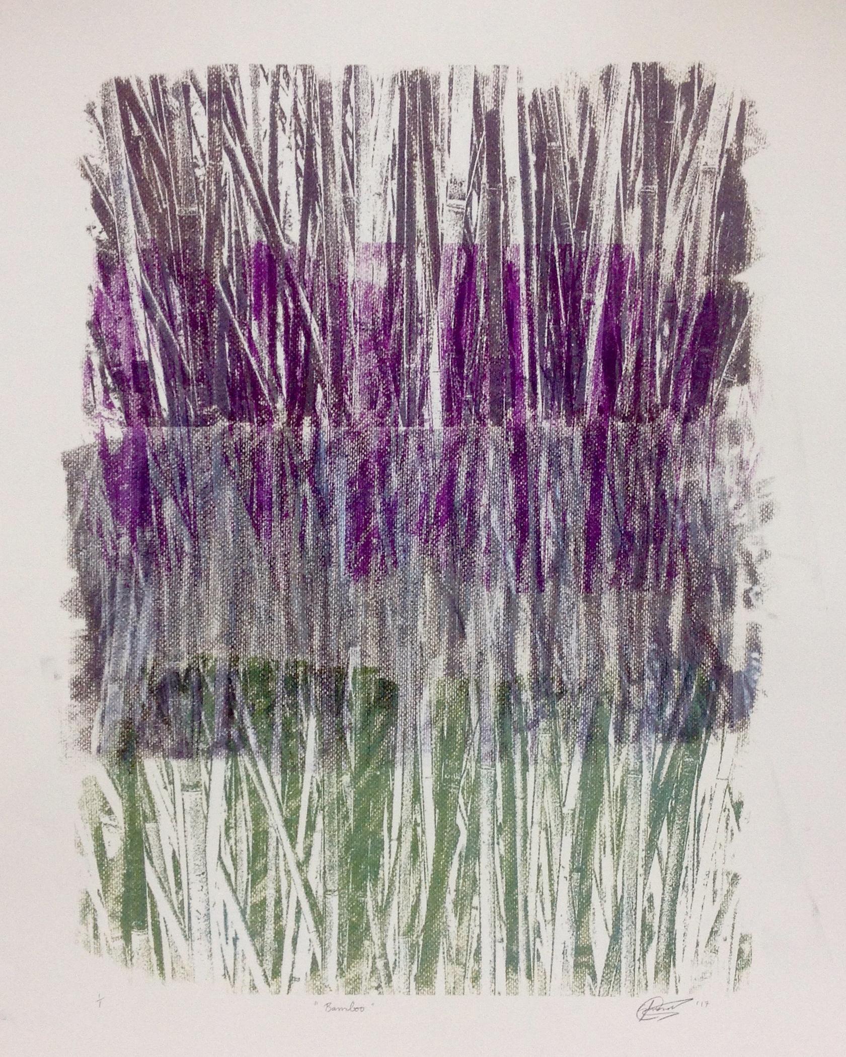 Bamboo. Monoprint. 40x60 cm. 2017. SOLD.