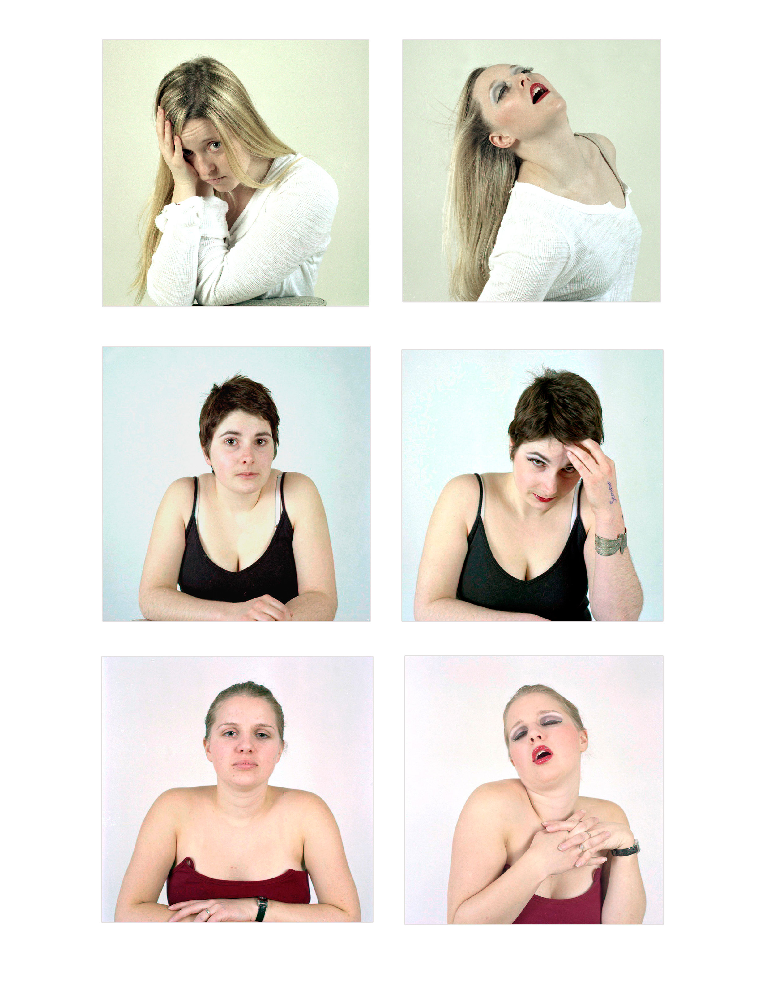 With and Without Makeup Series 2. Chromogenic Colour prints. 2008.