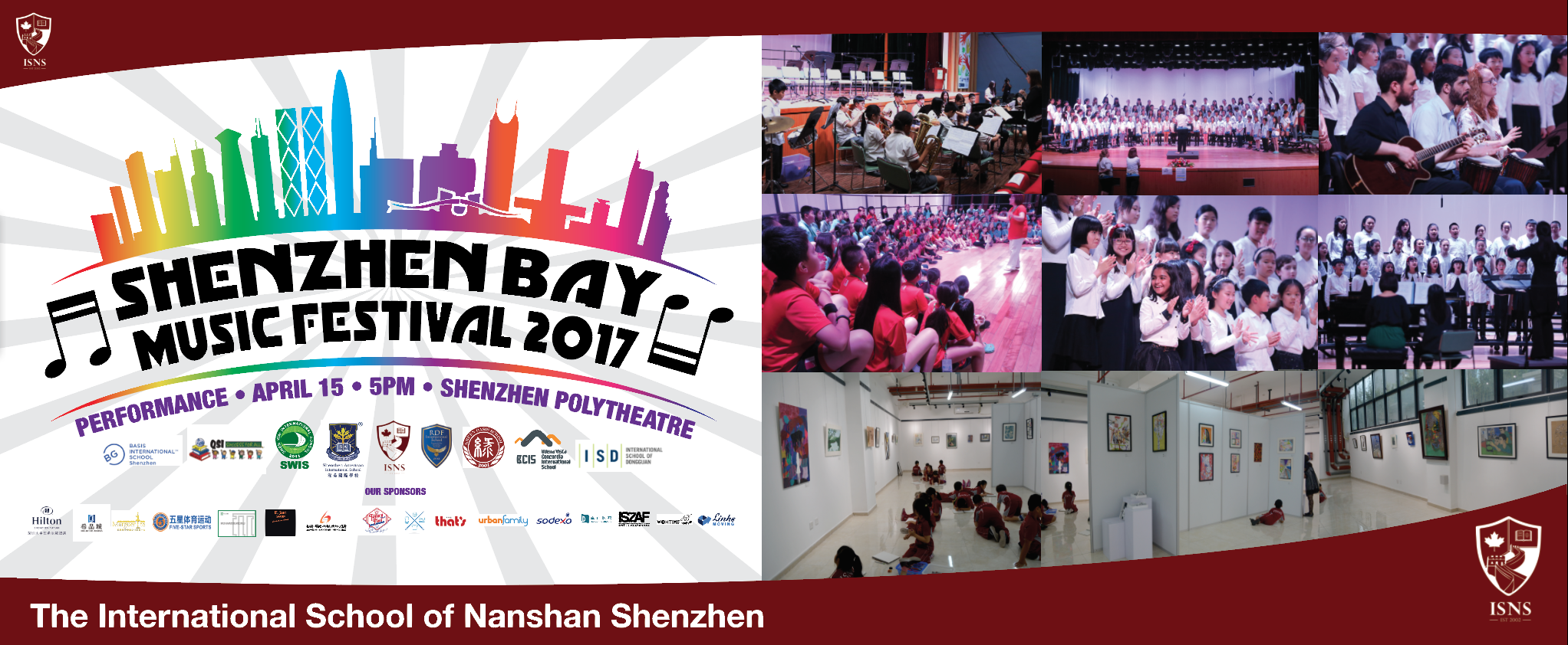 Shenzhen Bay International Schools Music Festival Banner. 2mx6m. 2017.