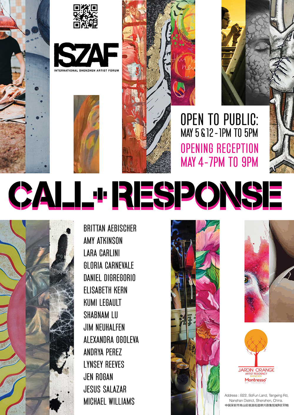Call + Response Exhibition Poster. 2018.