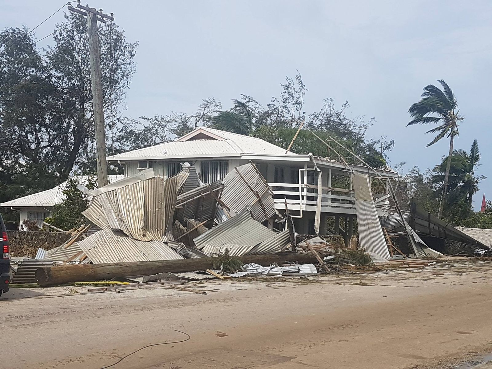 KlickEx main office, following the Category 5 Cyclone Gita; Nuku'alofa, Kingdom of Tonga - February 2018.