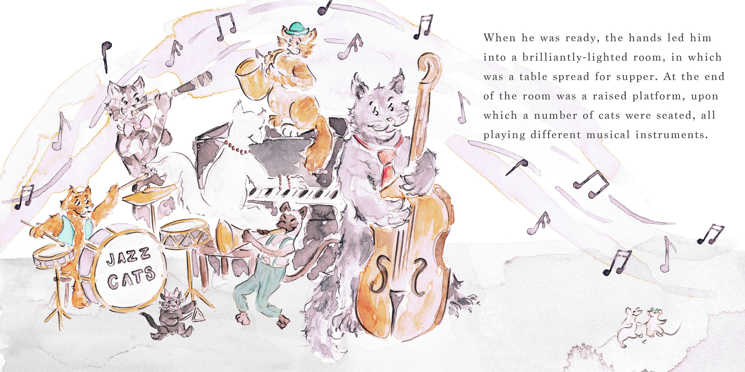 The White Cat - a watercolour illustration inspired by the old folk tale and part of a Make Art That Sells online course.