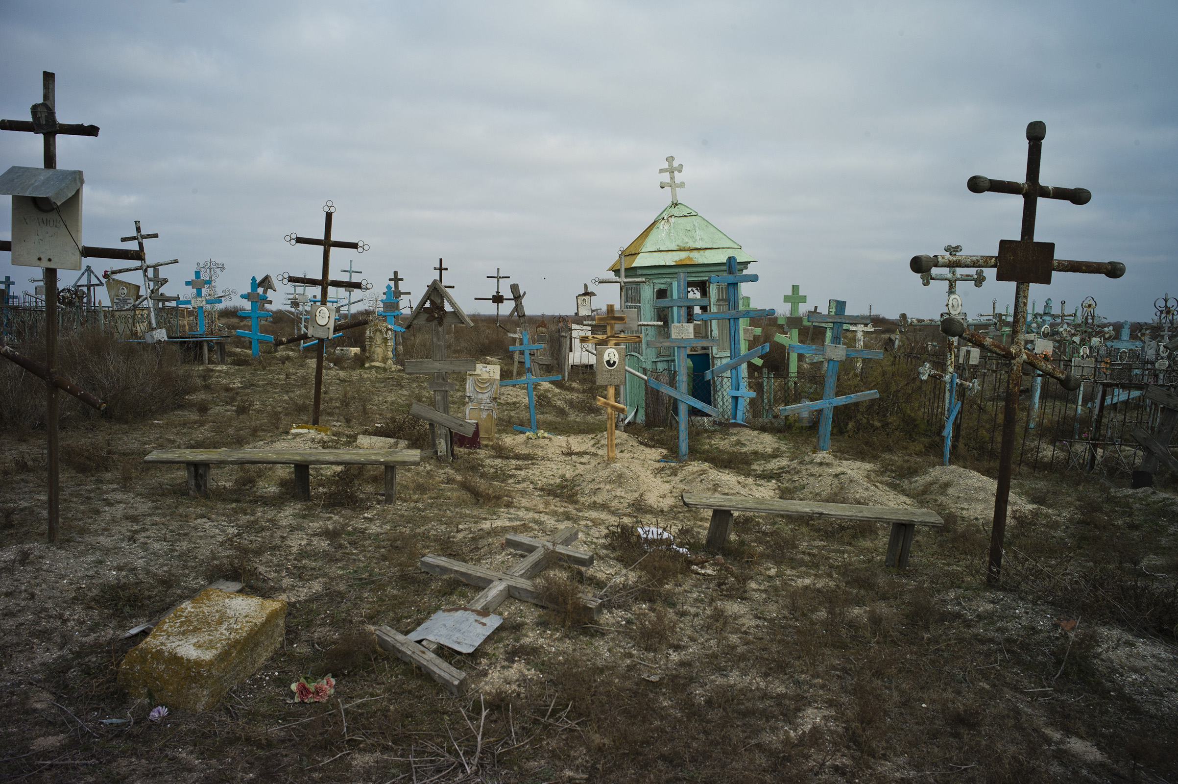 Russia, Dagestan, Chechen Island, 26 November 2013