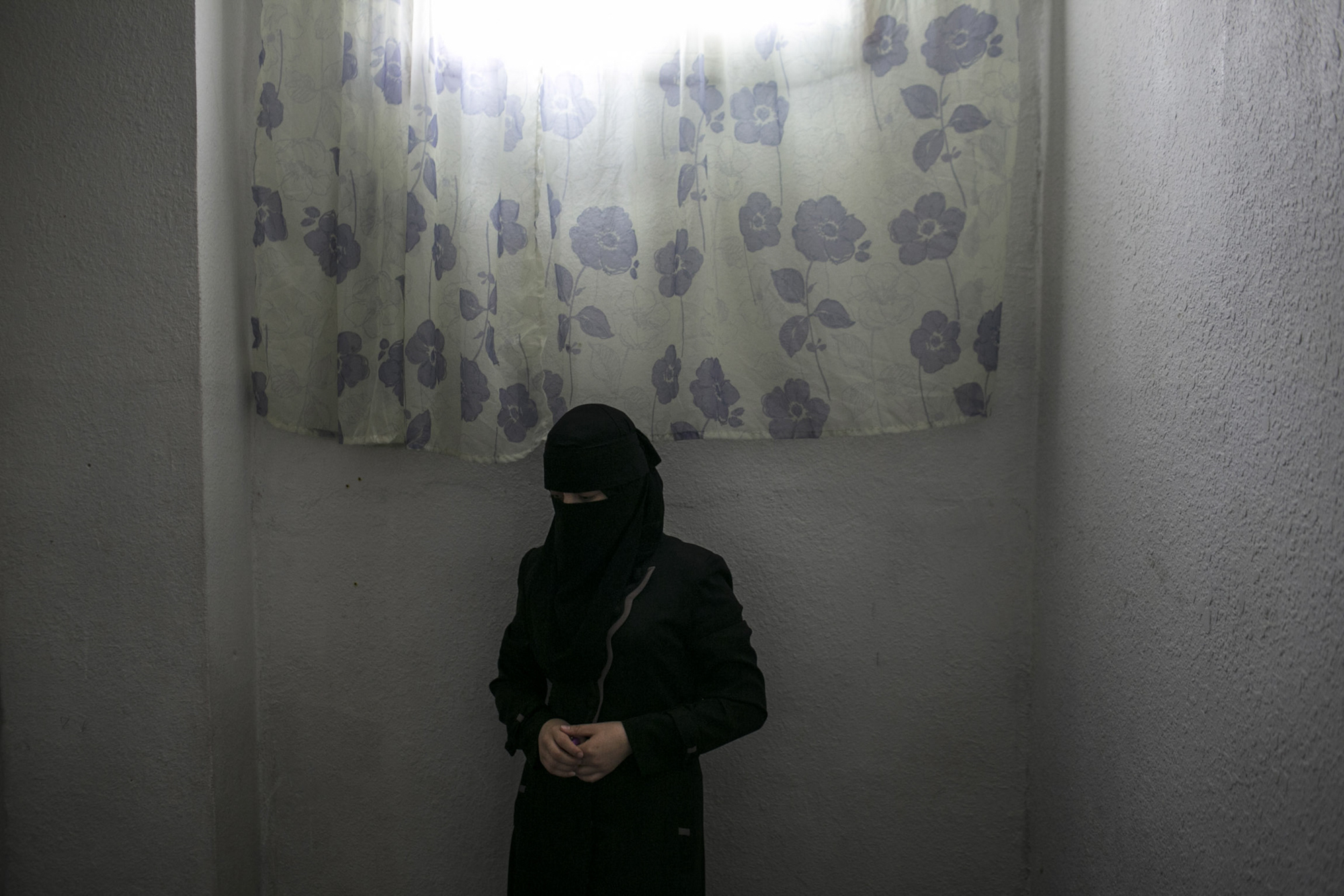Jordan, 2013, Samira, a 22 year old female head of house hold with four young children.  She fled Homs with her small children, while her husband insisted on staying to look after their home and assets. She learned four months ago that her husband had been murdered.