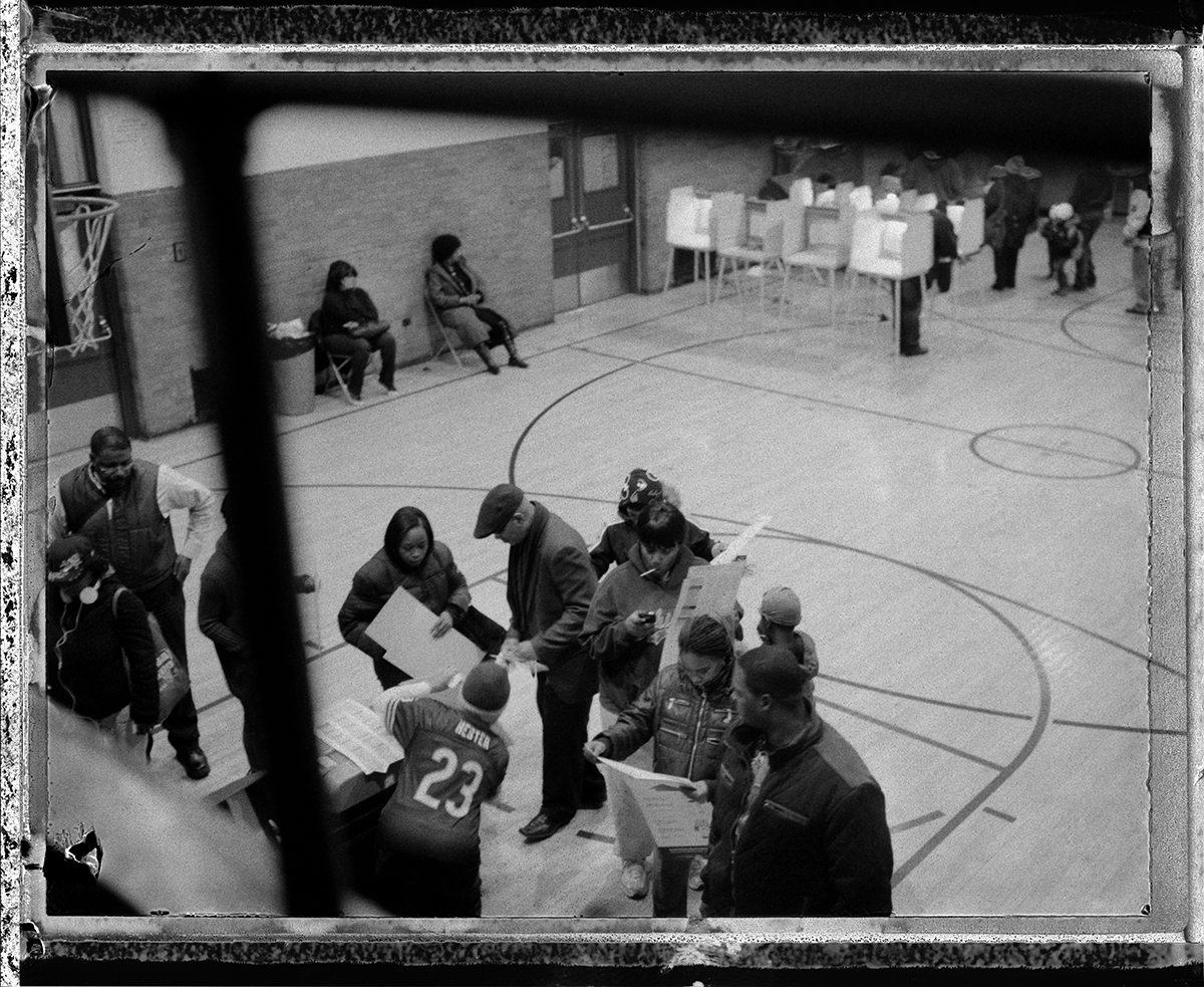 USA, Chicago, November 2012, Photograph from election day on Chicago's South and West Sides.