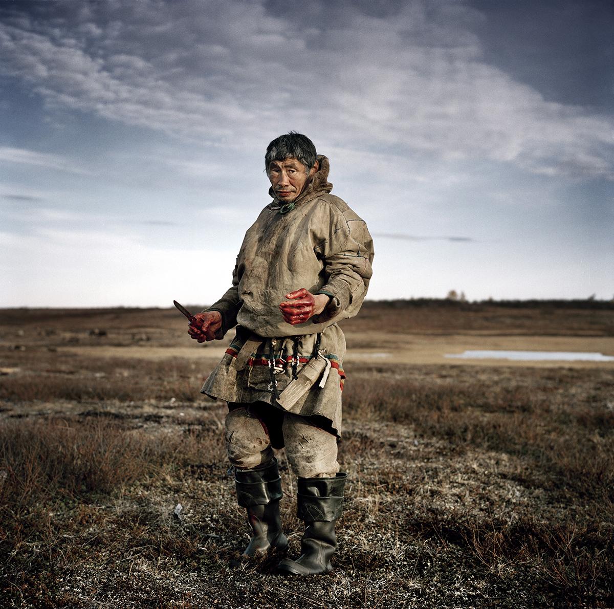 Russia, Yamal, October 2009,Vasilyi Ivanovich, the elder of the tribe.