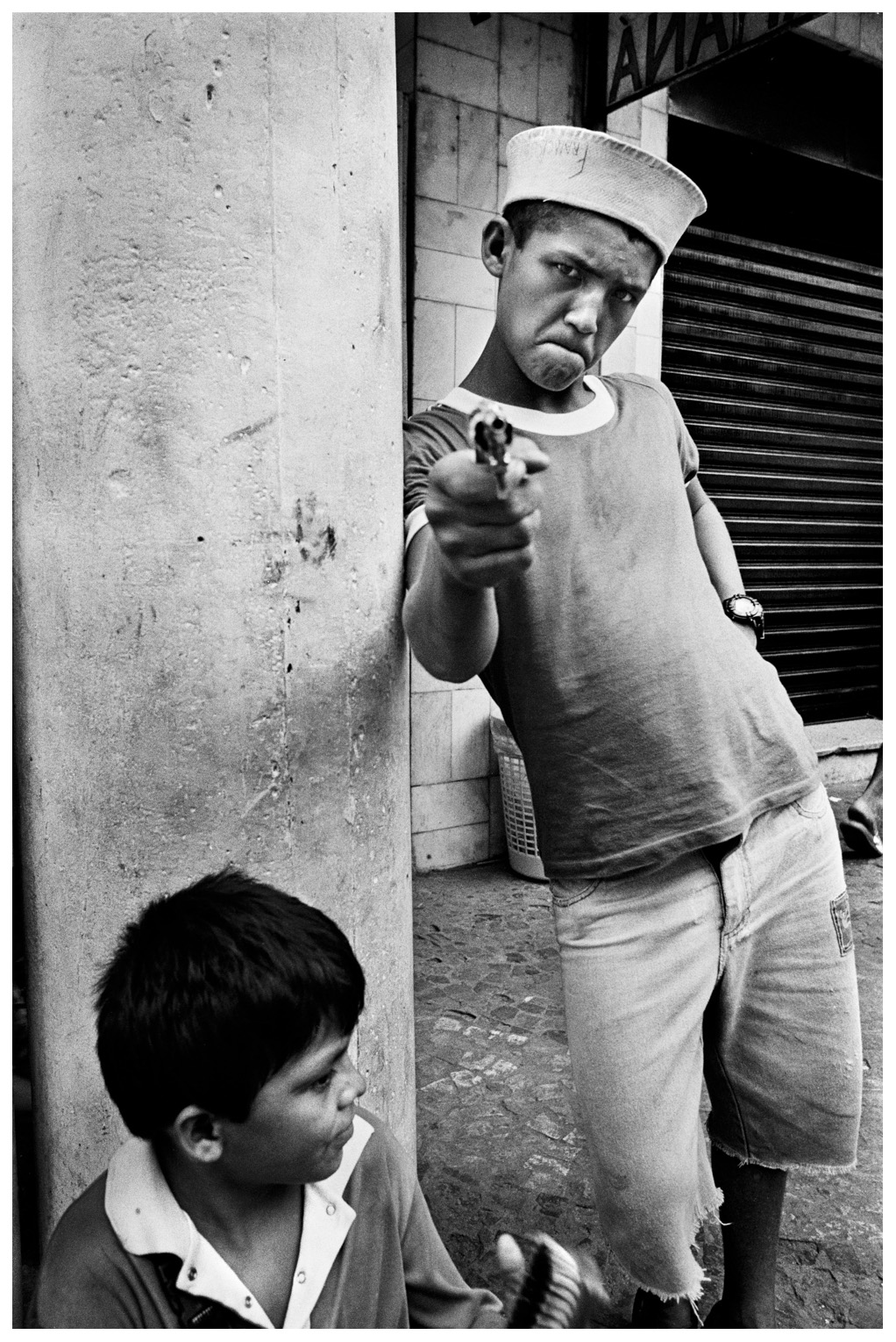 "Every six hours a child dies on the streets of Brazil. The ""meninho de rua"" (child of the street) is the symbol of Brazil's degradation. There are around 12 million street children in Brazil. These children are reflections of civil society's cruelty to its most fragile members.