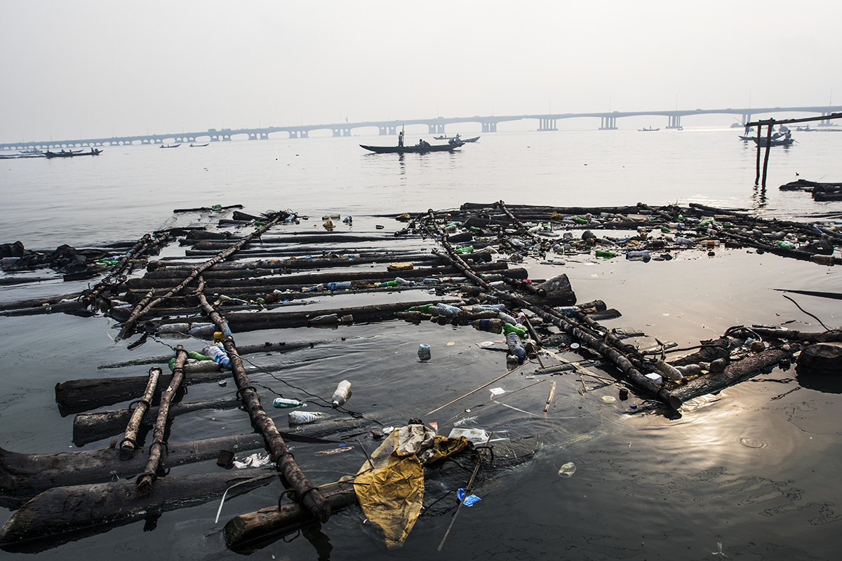 Nigeria, Lagos,January 2017, The bay of Lagos gets a lot of waste from the city.