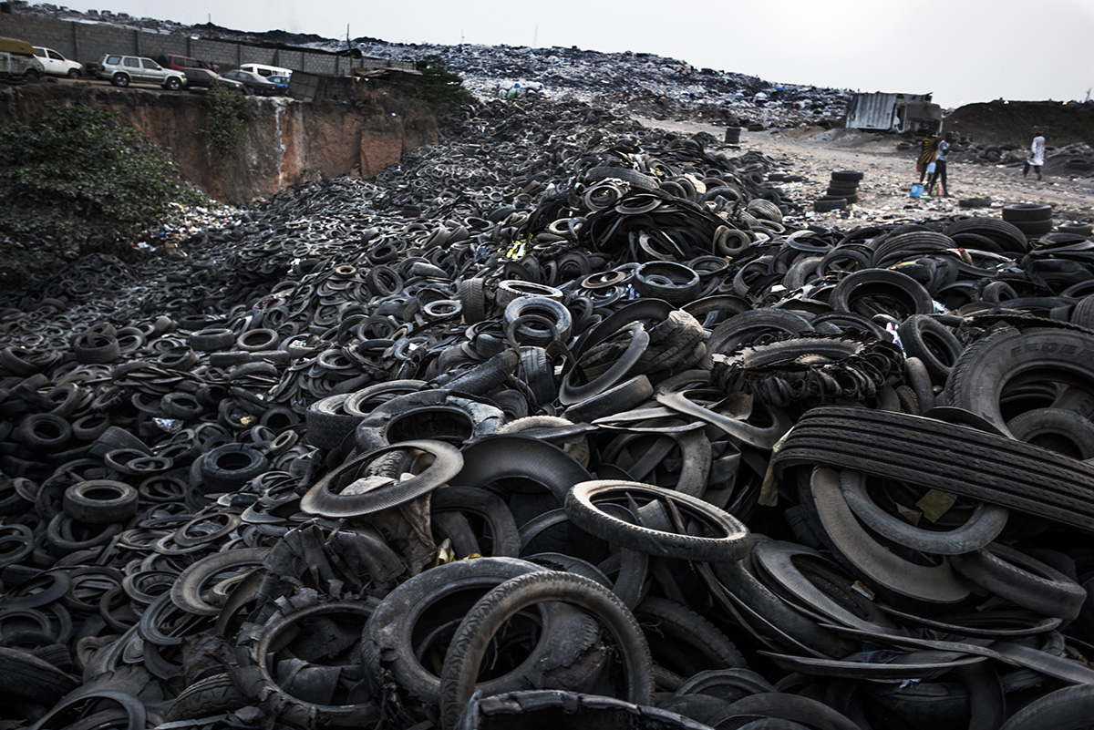 Nigeria, Lagos, 27 January 2017Cartiers dumped at the landfill.The Olusosun landfill in Lagos receives between 3-5000 tons per day and is about 45 ha in size. About 5000 scavengers work here and often also live. They collect anything that is recyable like plastics, textiles, electronics, paper etc. The problem is that the landfill is full and the city wants to close it down. The question is where it will go, there are no incinerators and the infrastructure to formally recycle is lacking. There is one other landfill, but it needs to close as well.Remarkable is that the landfills in Lagos smell less compared to other landfills in the world: Nigerians throw away less food, because they either finish their plate or feed it to the animals.Kadir van Lohuizen / NOOR