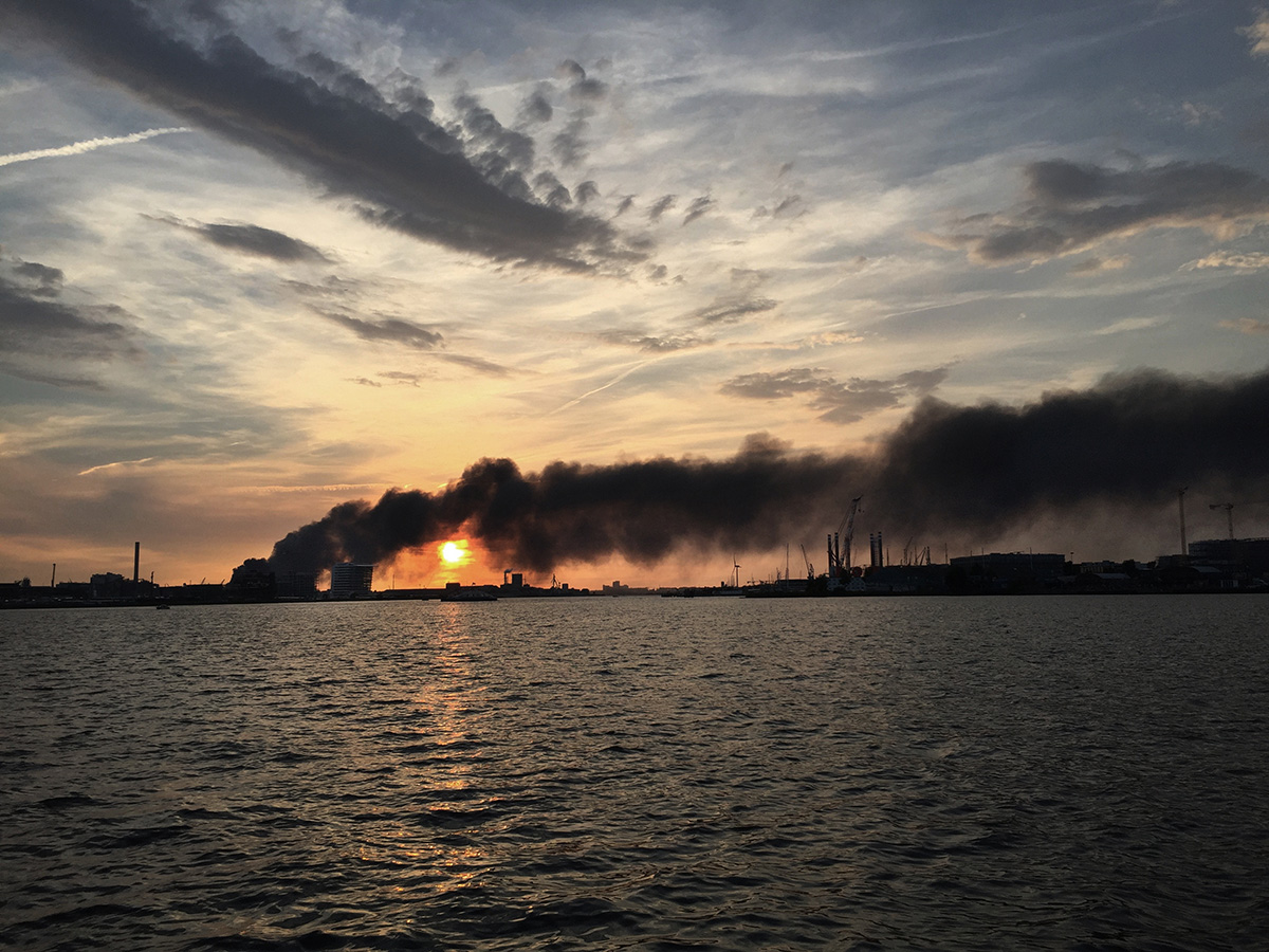 Netherlands, Amsterdam, 27 May 2017A few warehouses of ICOVA in Amsterdam where household waste is stored are burning . It took a few days before the fire department had it under control.Kadir van Lohuizen / NOOR
