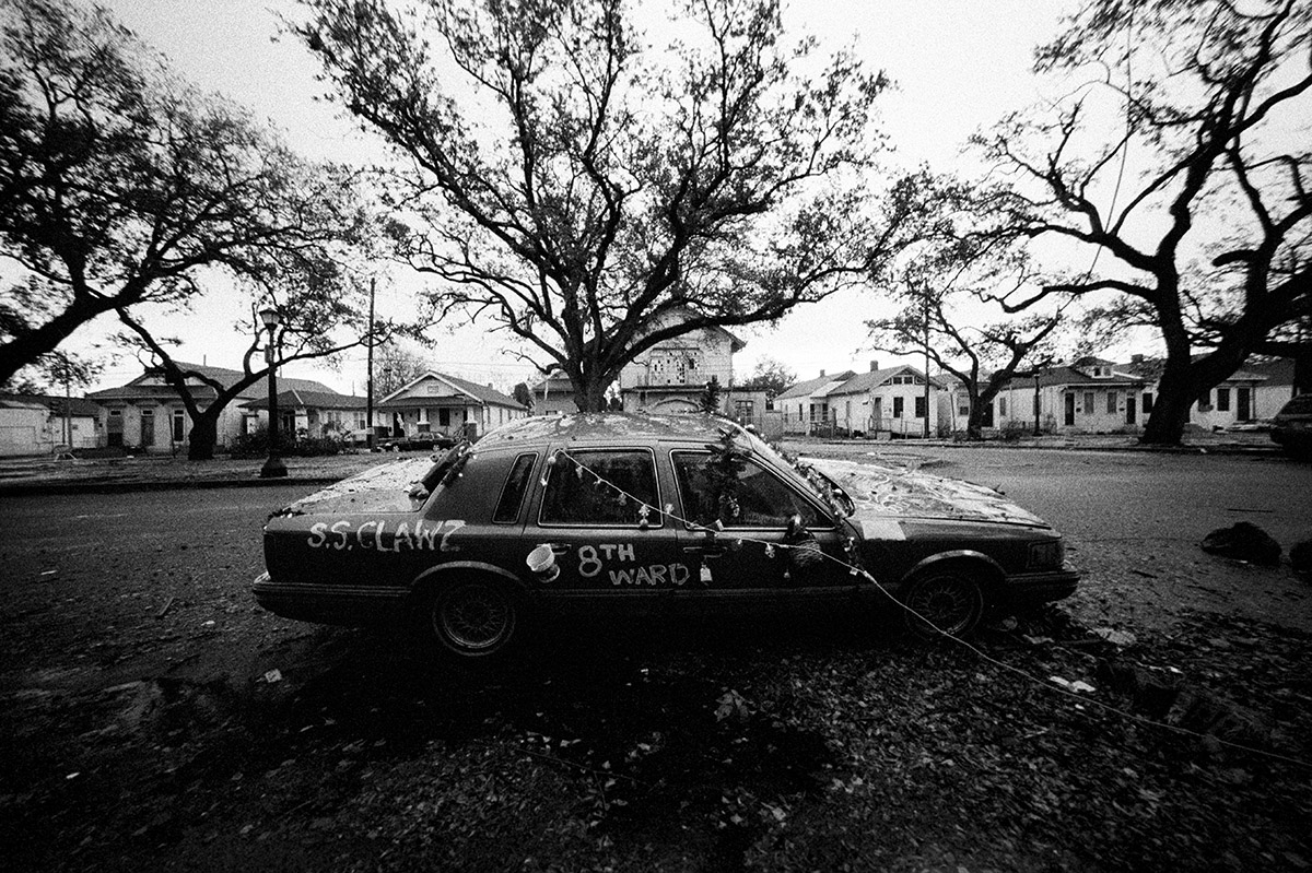 USA,   New Orleans, December   2005, As the flood waters receded, cars were found almost intact. They looked like something from a horror movie.