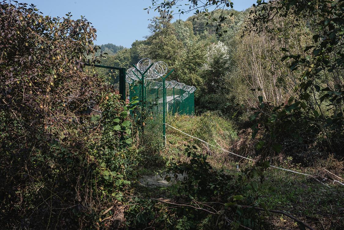 Anti migration wall in Slovenia