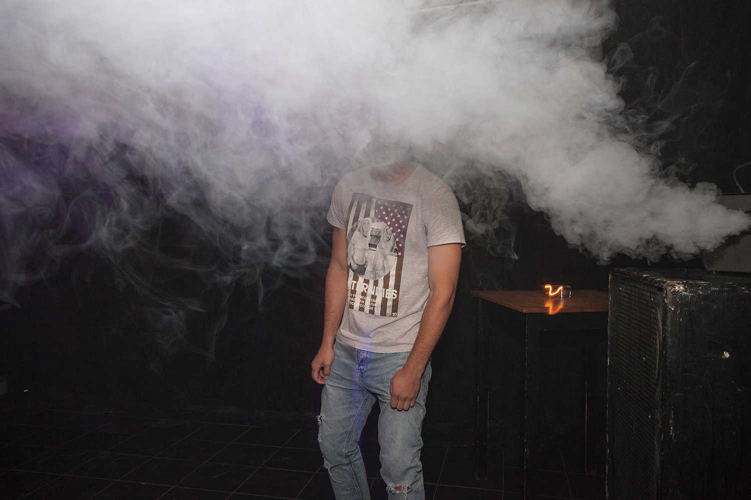 Sweden, Ostersund, June 2014 A player of South Ossetia is seen while partying in a nightclub in Ostersund after a match
