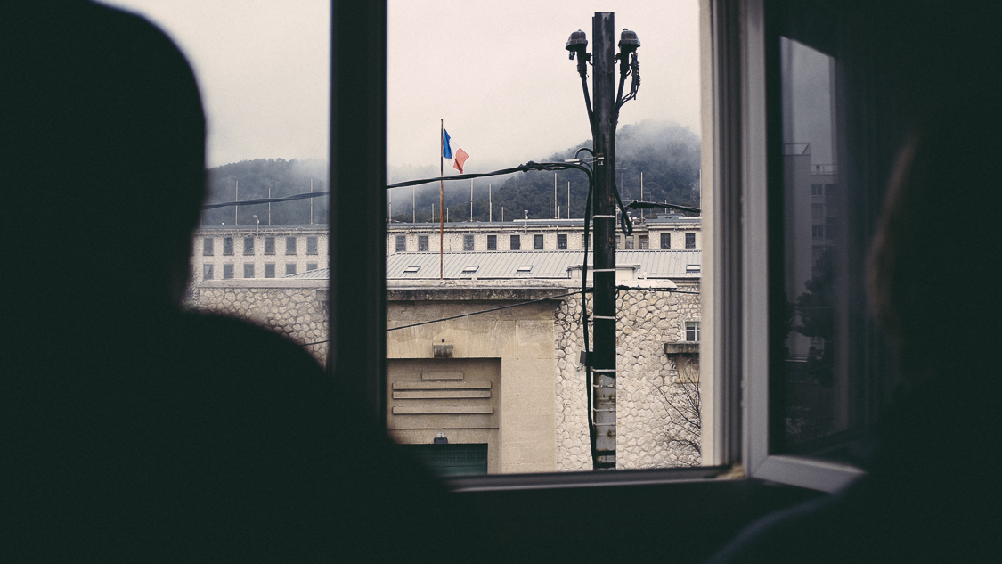 France, Marseille, 25 March 2015.Exterior view of the Baumettes prison in Marseille (FR), since the windows of the guest house for prison staff. The population incarcerated at Baumettes is, at the time of our visit, 1800 people.Francesca Todde / NOOR