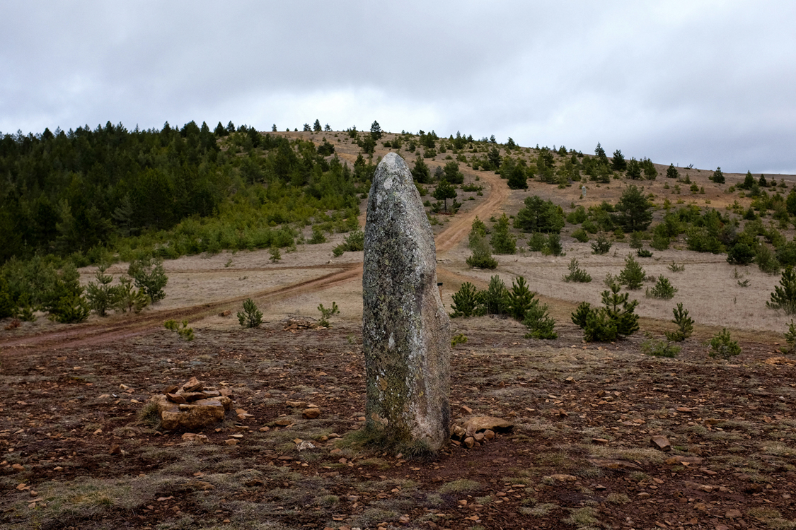 A Menhir dating back to around 2000 B.C. Cham des Bondons, February 23, 2016. Pre-historical human activities are widely documented in the Cévennes, and today's natural beauty of the landscapes seems to indicate that man and nature lived in a relative harmony throughout the ages. And, hopefully, for ever and ever.
