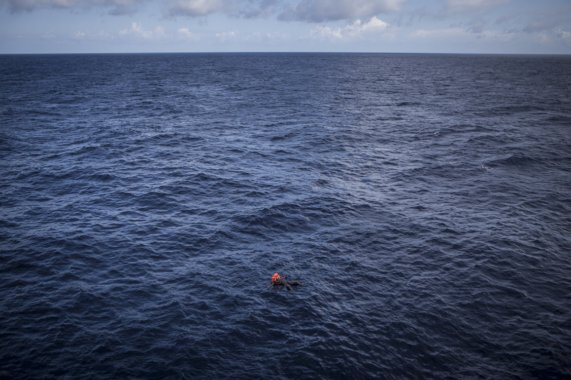 The body of a migrant found floating at sea � Mathieu Willcocks/MOAS.eu 2016, all rights reserved.