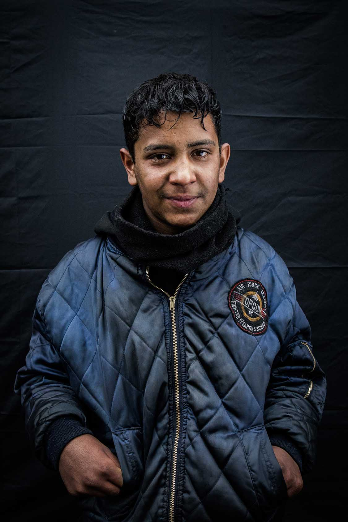 """Ahmed, 13. Afghanistan.""""I am not afraid anymore. We walked six days in the forest to cross into Bulgaria. The police was after us. The smugglers were beating us as we were too slow."""""""