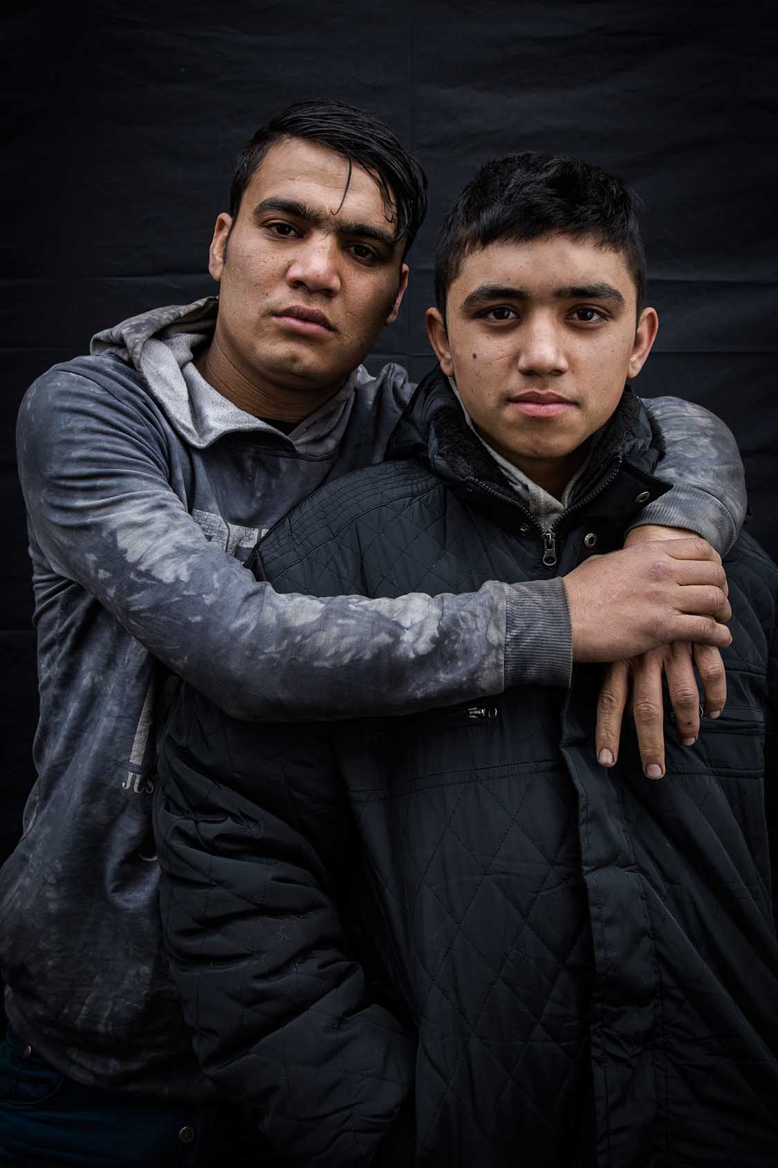 """""""We are friends, we left Afghanistan together. That was more than one year ago.""""Abdullah and Ijaza, Afghanistan."""