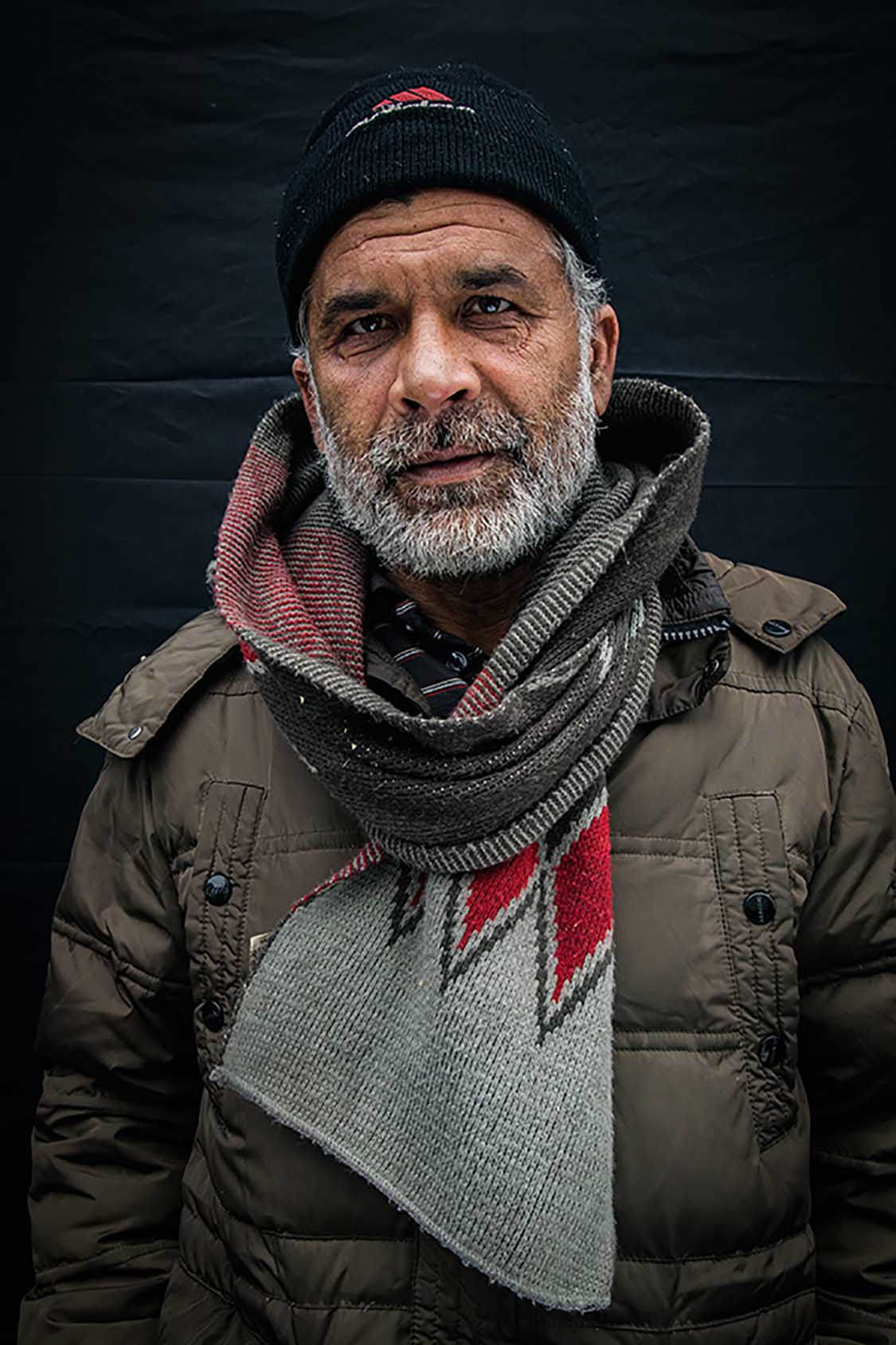 """""""Just like many others here, I lost count of how many times I tried to cross into Hungary. But I will keep trying. My destiny is not here in Serbia.""""Jan, 65, Afghanistan."""