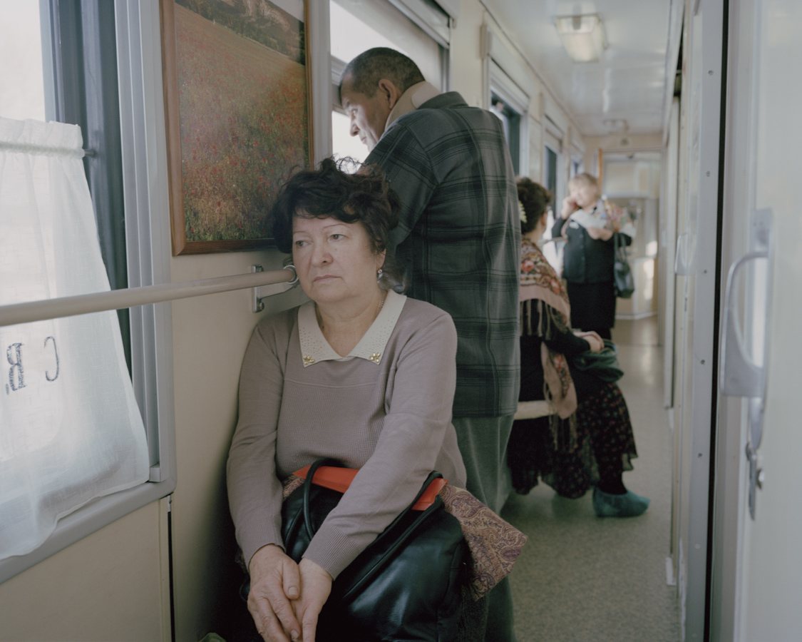 Patients wait in the narrow