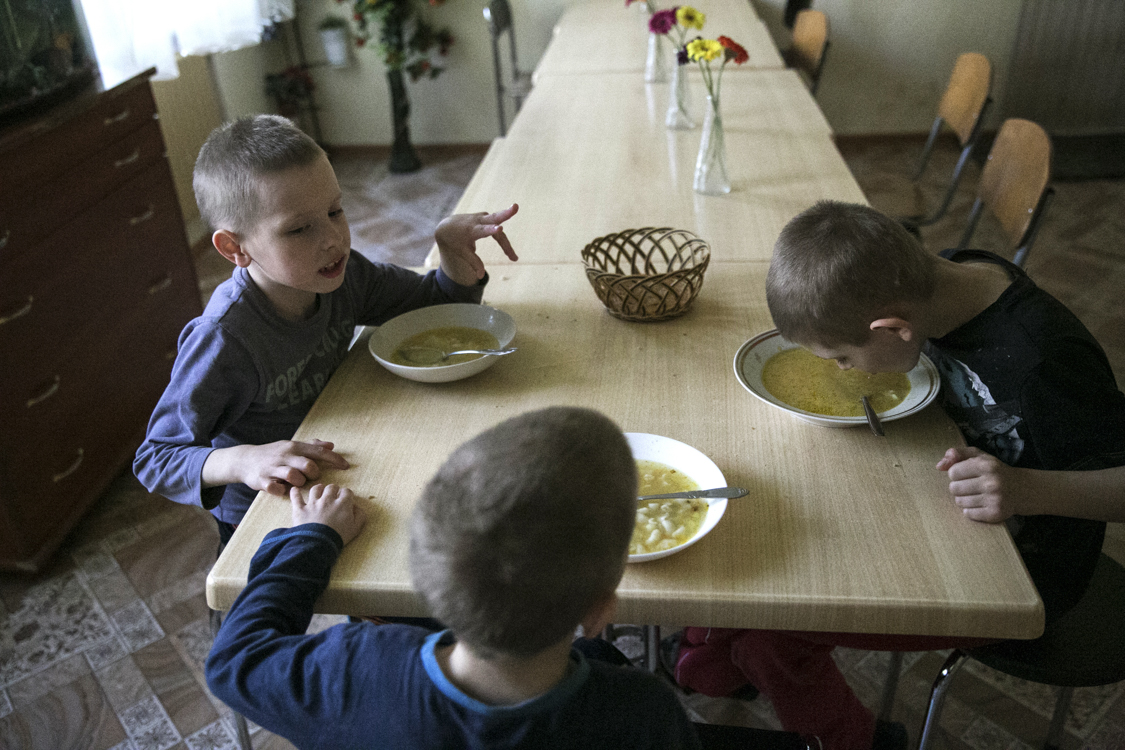 Children have a separate