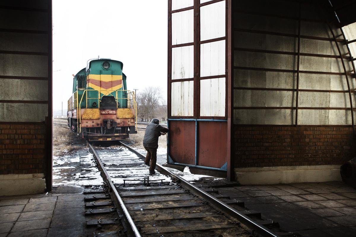 Etulia, Gagauzia. Moldova - Februrary 2018Train maintenance shed at the Etulia train station, the only one working in all Gagauzia.