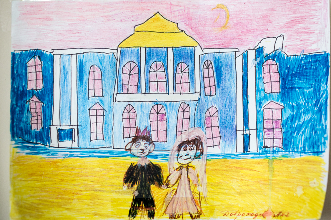"Nyusha 's picture. Sometimes medical staff call them in jest ""bride and groom""."
