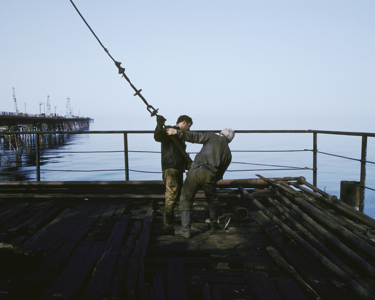 Following the running waves of the caspian - by Stanley Greene
