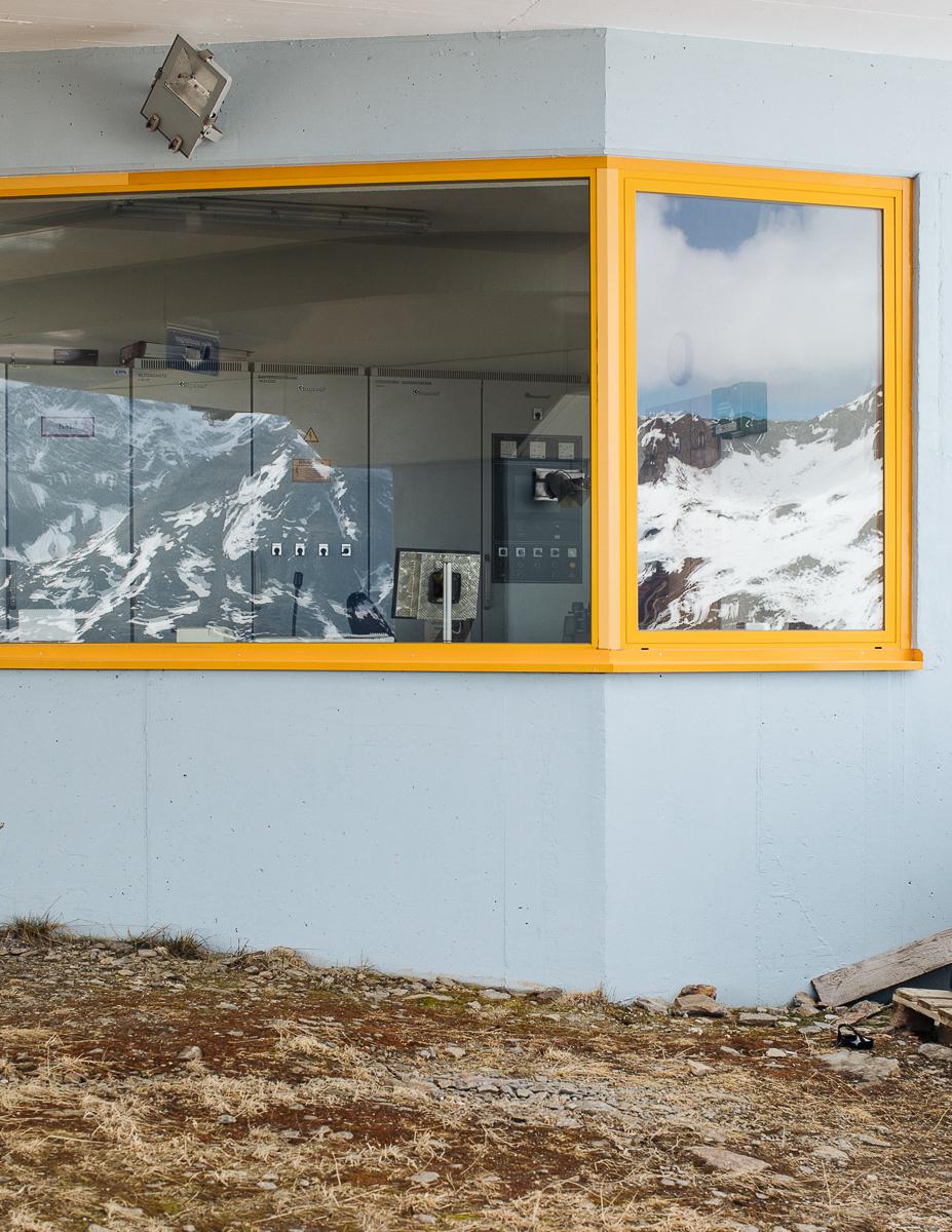 Ski lift operating house. Soelden, Austria. 07/2018© Elias Holzknecht
