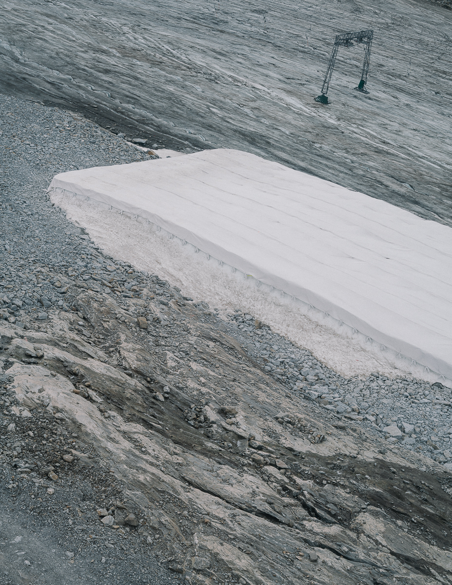 Covering Glacier. Kitzsteinhorn, Austria. 08/2017.© Elias Holzknecht