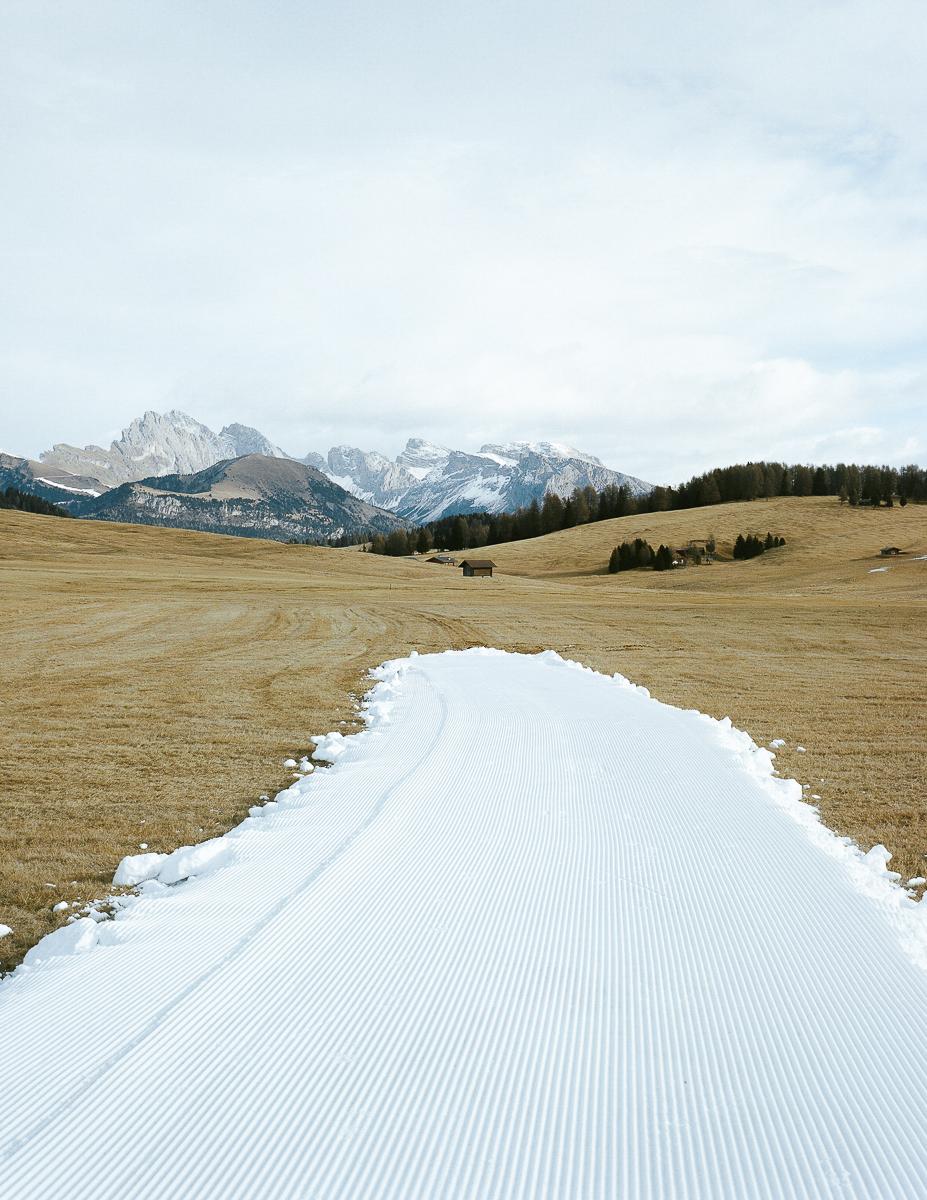 Cross-country track. Seiser Alm, Italy. 12/2016.© Elias Holzknecht