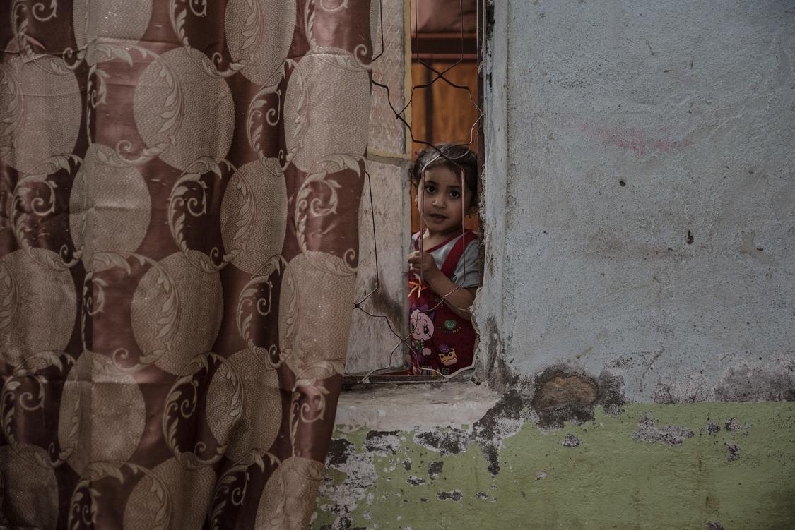 Portrait of day-dreamy Tiktum at age 5. Iraq, 09/03/2017