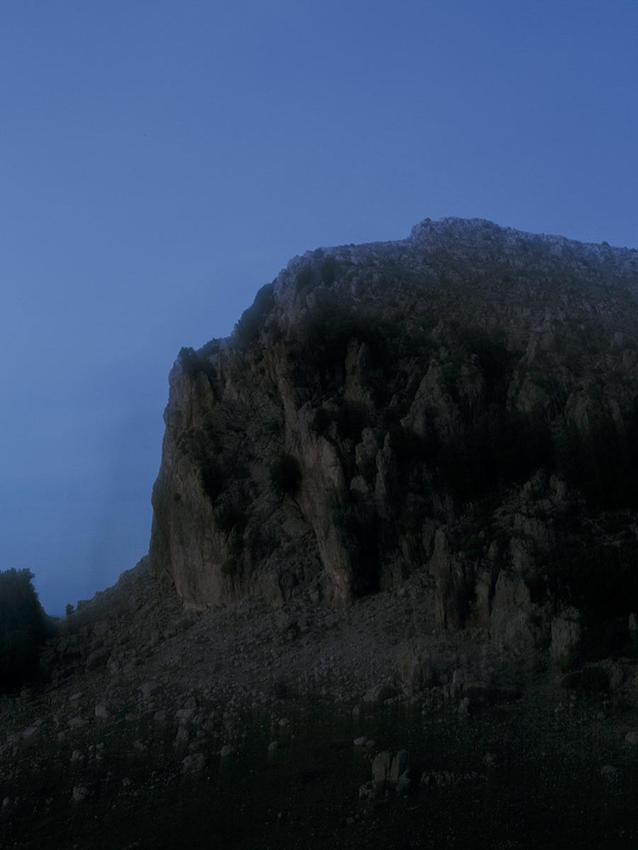 View of mountains in Orgosolo, Barbagia.