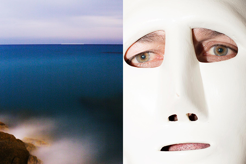 LEFT - View from Cala Liberotto near Barbagia.RIGHT - Masked man in Ottana, Barbagia.