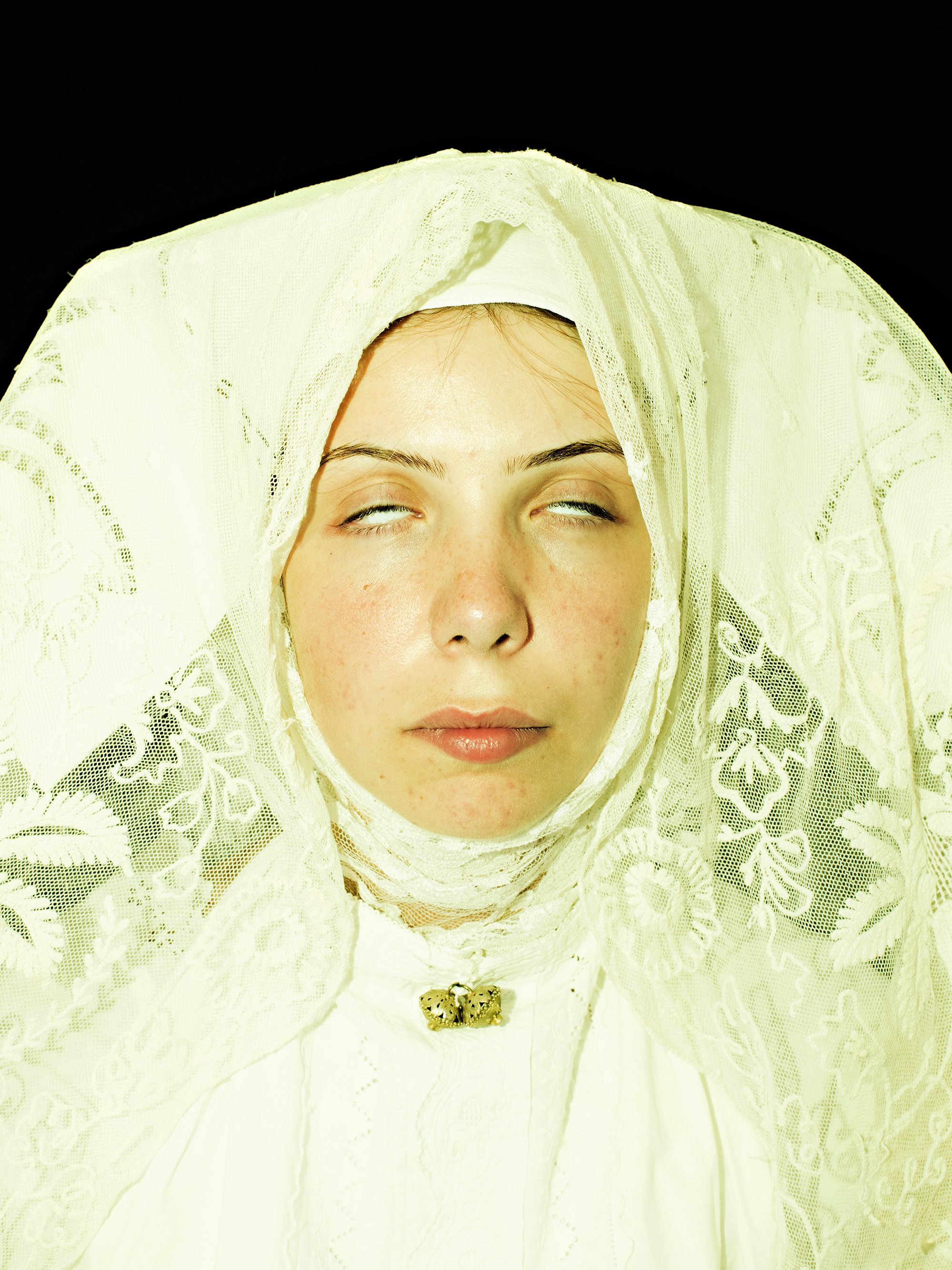 Piera portrayed as The Blessed Antonia Mesina.