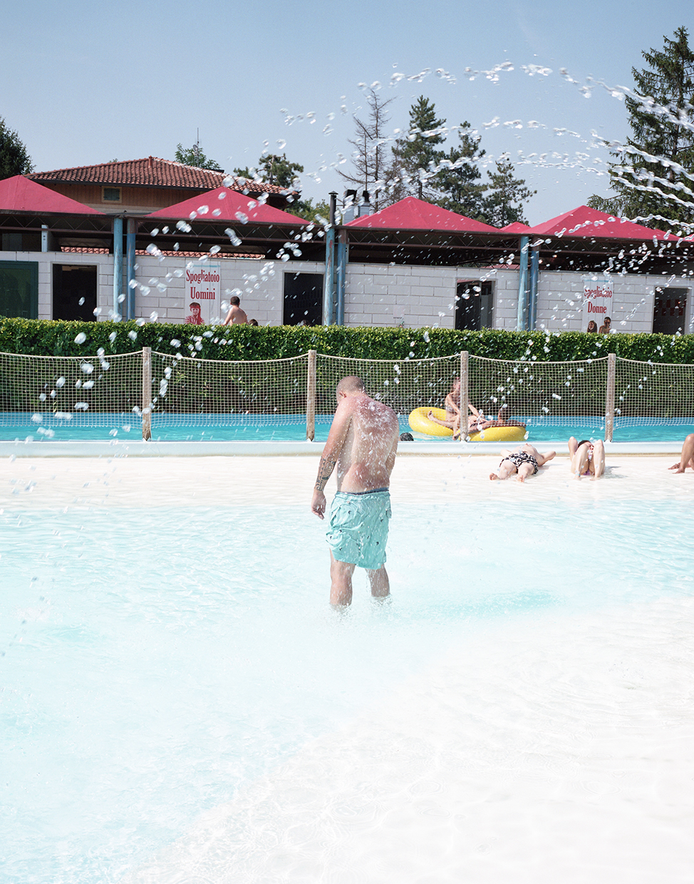 Inzago, Italy, 2017A man in a water fun park in Inzago, a small village in Lombardia