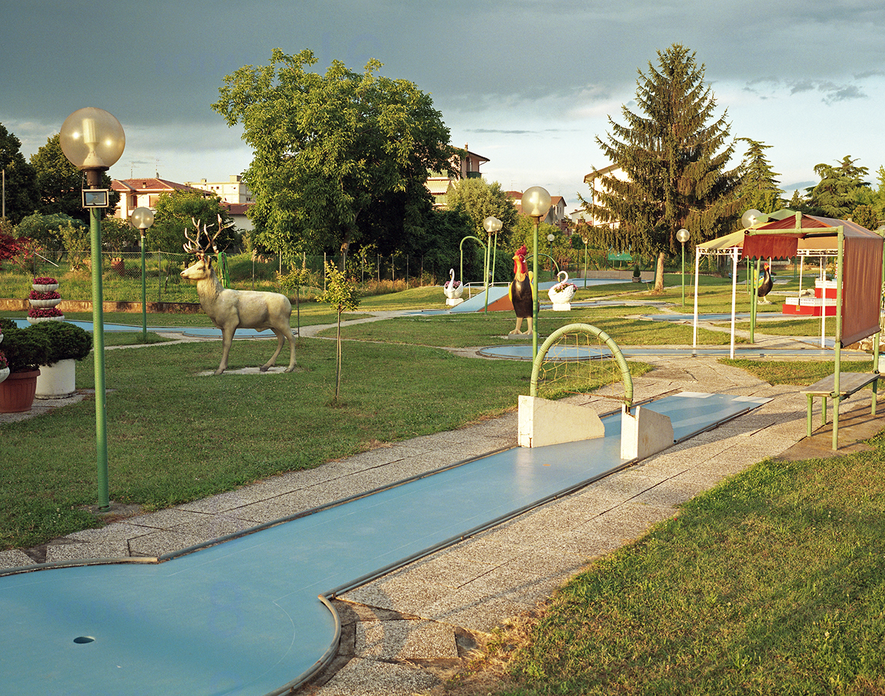 Olmo, 2018, ItalyMinigolf field at sunset in the small town of Olmo, nearby Vicenza