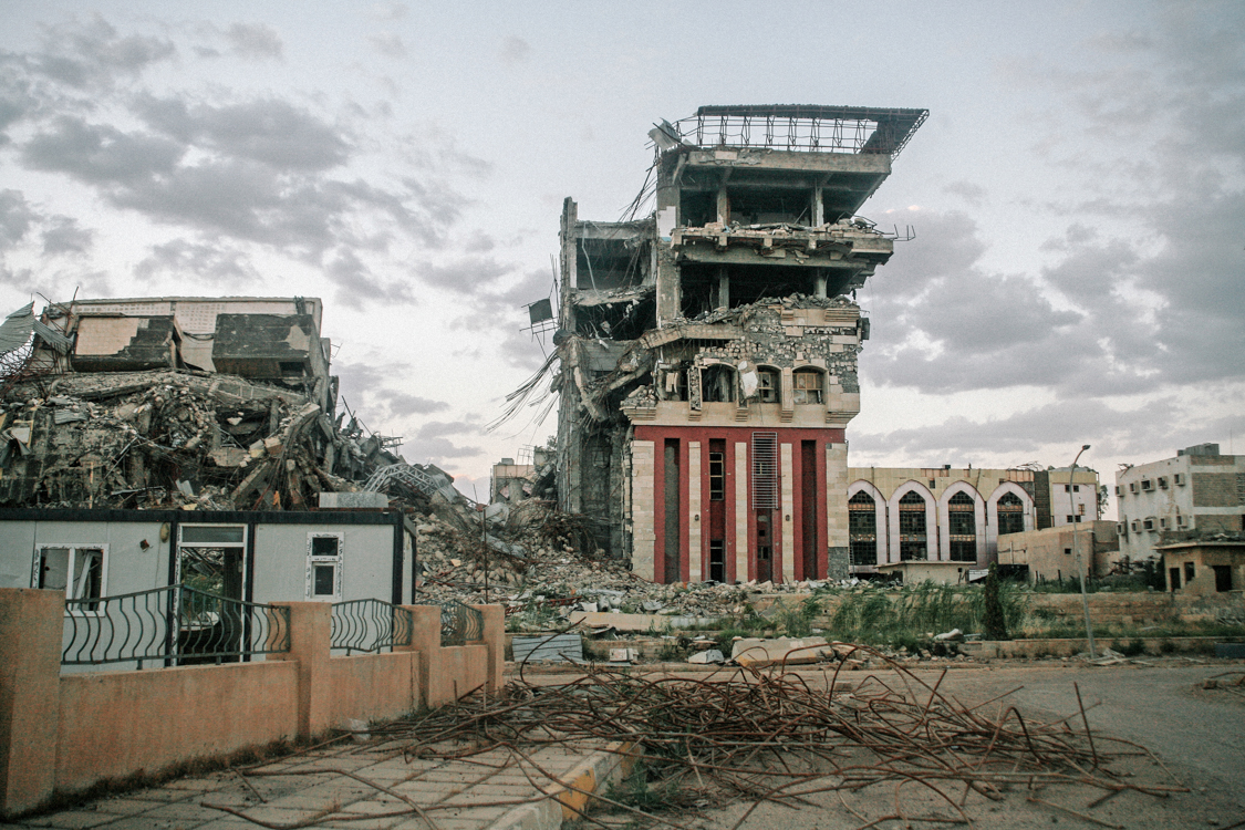 Mosul university destroyed during the battle. Iraq, May 2017.