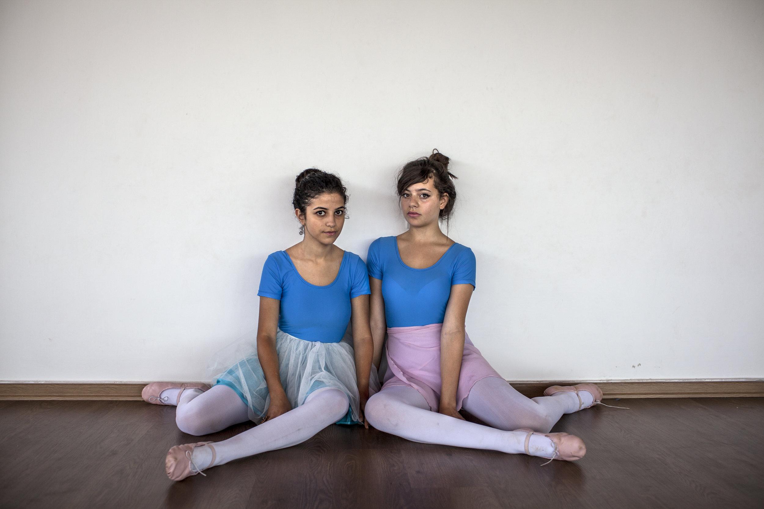 Tanya Habjouqa/NOOR RamallahTwo Ramallah high schoolers with big dreams take ballet together.