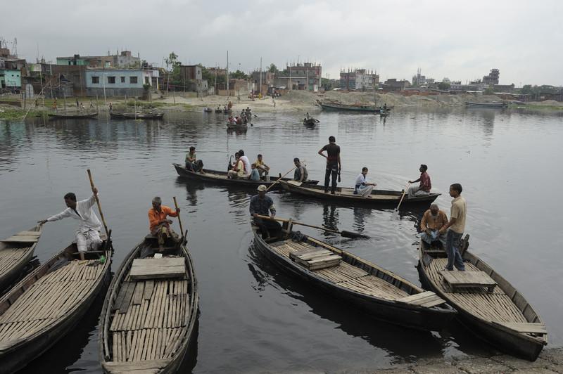 Taxi boats in  the Kamrangichar peninsula in Kamrangirchar,