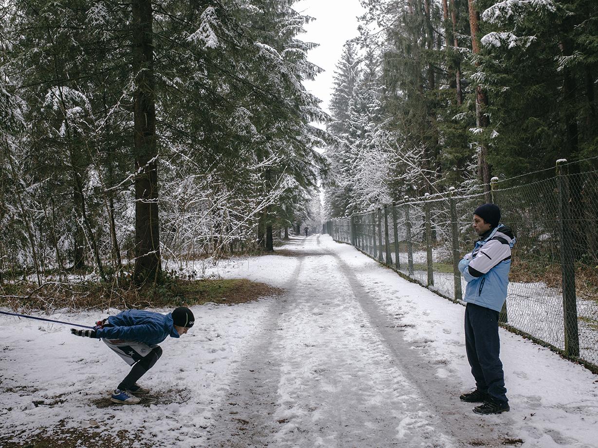 Every day after the school, Nikola race a few kilometers and is working on his fitness, Kranj, Slovenia/2019 Photo/ Vladimir Zivojinovic