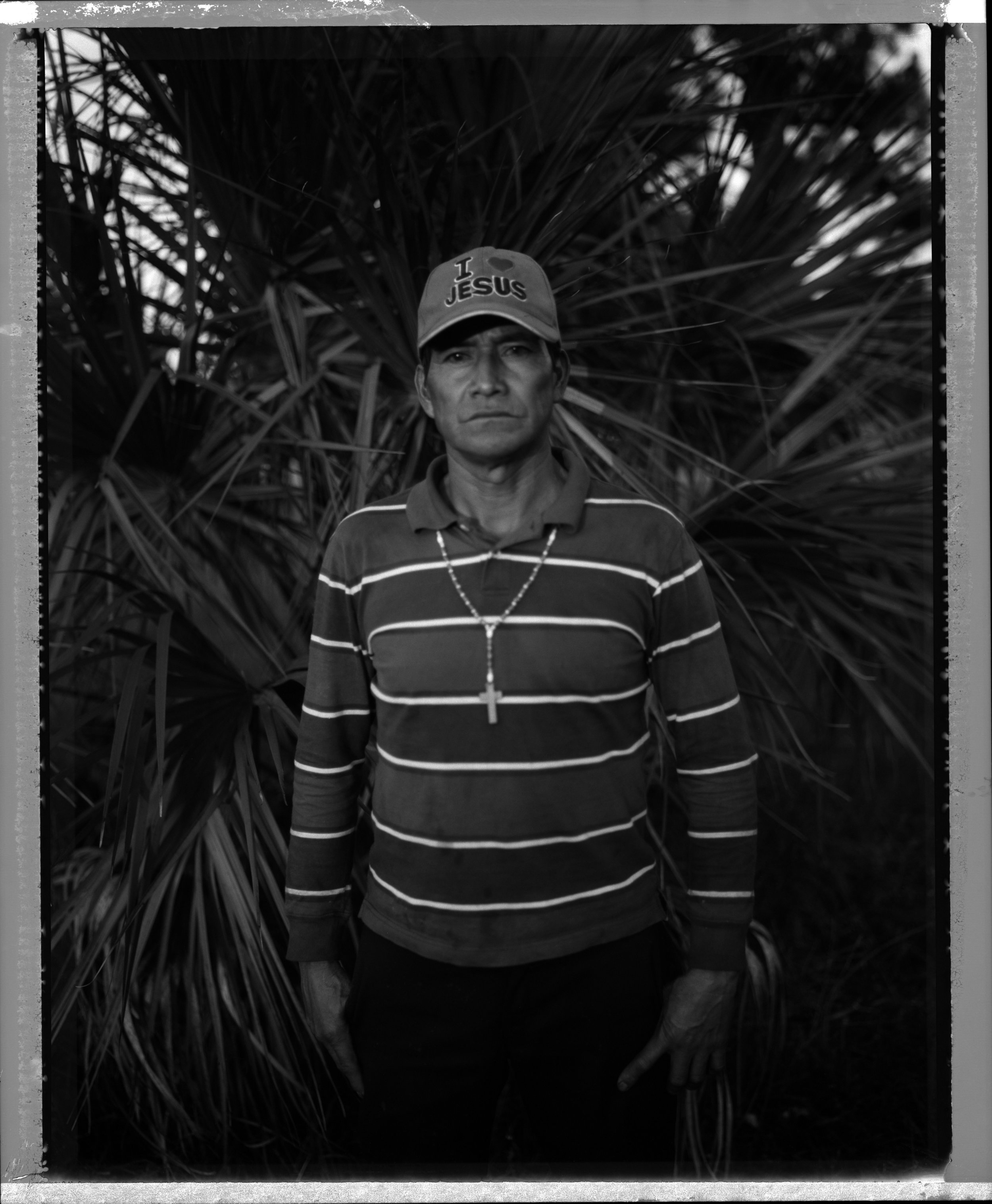Photographs of victims of forced labor in the United States. Photographs of victims of forced labor in the United States.   For more than a year Geronimo Sanchez Bravo was forced to work and live as a slave in downtown Immokalee for about a year. During that time he was forced to live in a large truck in the front yard of a normal looking house and pick tomatoes for his captors. . Eventually, several workers made a hole in the top of the truck and were able to escape and get help. They went directly to the Coalition of Immokalee Workers who helped Geronimo and the others to escape. Geronimo testified against his captors. He still lives in Immokalee and is happy that he's free. He now is an active member of the anti-slavery movement and works hard for the rights of his fellow workers. He still picks tomatoes.   This project is supported by Lexis Nexis